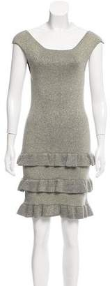 Nicole Miller Sleeveless Ruffled Dress w/ Tags