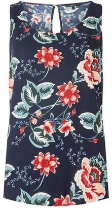 Dorothy Perkins Womens **Vero Moda Navy Floral Tank Top
