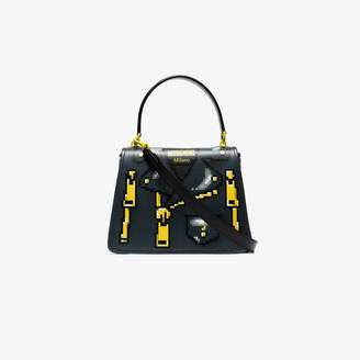 4579080845 Moschino Black Pixelated jacket print shoulder bag