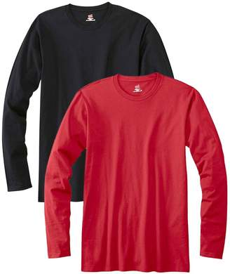 Hanes Men's Long Sleeve Nano Cotton Premium T-Shirt (Pack of 2)
