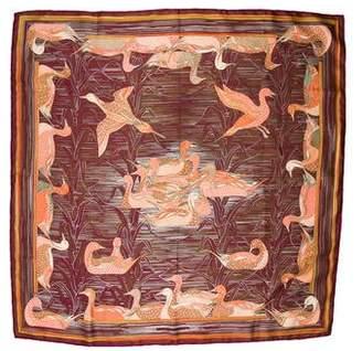 Hermes Mallard Silk Jacquard Scarf