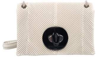 Giorgio Armani 2018 Pleated Leather Shoulder Bag