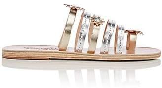 Ancient Greek Sandals Women's Victoria Metallic Leather Sandals - Silver