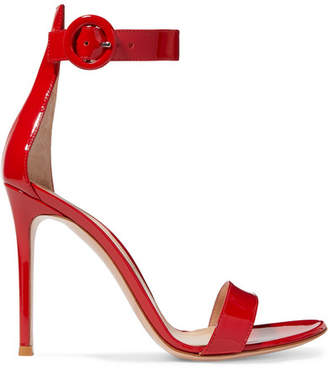 Gianvito Rossi Portofino 110 Patent-leather Sandals