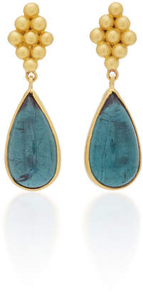 No-Nà Prounis One-Of-A-Kind Teal Tourmaline Large Nona Earrings