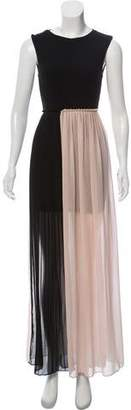 Alice + Olivia Cut-Out Pleat-Accented Dress