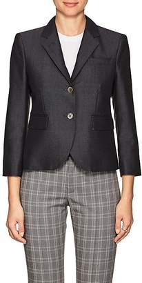 "Thom Browne WOMEN'S ""LITTLE BOY"" WOOL-MOHAIR TWO-BUTTON BLAZER"