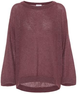 Brunello Cucinelli Mohair-blend metallic sweater