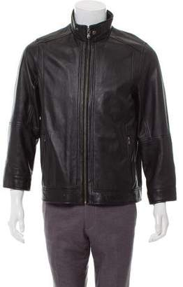 Saks Fifth Avenue Zip-Up Leather Jacket