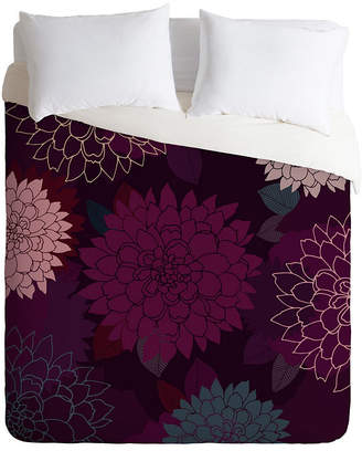 Deny Designs Iveta Abolina Burgundy Rose Twin Duvet Set Bedding