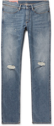 Acne Studios Max Slim-Fit Distressed Denim Jeans - Men - Blue