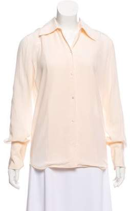 The Row Silk Long Sleeve Button-Up w/ Tags