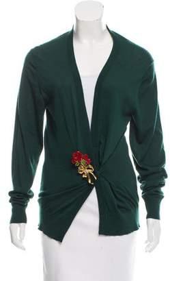 Dolce & Gabbana Cashmere Pin-Embellished Cardigan