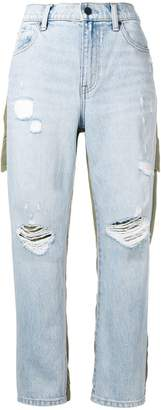 Alexander Wang combined cargo denim pants