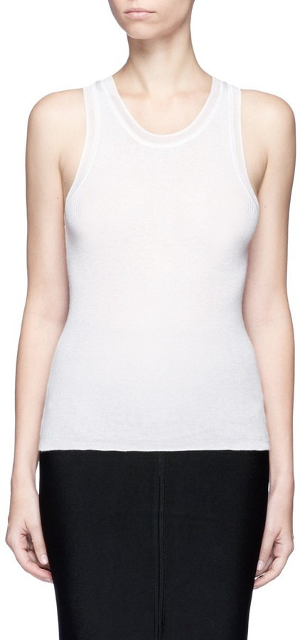T By Alexander Wang Scoop neck rib knit tank top