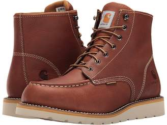 Carhartt 6-Inch Tan Waterproof Wedge Boot Men's Work Boots