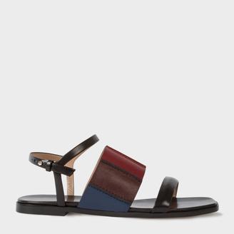Women's Black Colour-Block Leather 'Constance' Sandals $475 thestylecure.com
