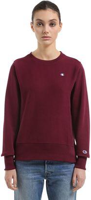 Crewneck Cotton Sweatshirt $129 thestylecure.com