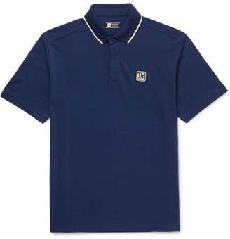 Z Zegna Contrast-Tipped Techmerino Wool-Piqué Polo Shirt