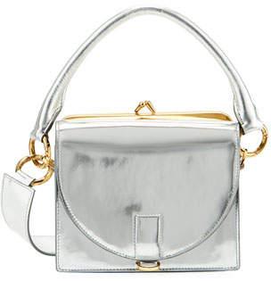 Sacai Metallic Leather Satchel Bag