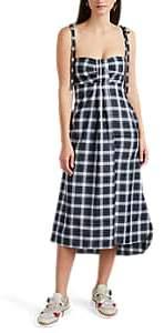Teija Women's Plaid Cotton Midi-Dress - Green