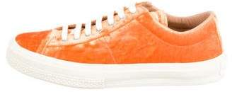 Dries Van Noten Velvet Low Top Sneakers w/ Tags