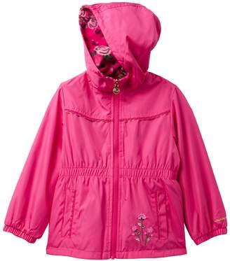 London Fog Anorak Reversible Floral Fleece Jacket (Little Girls)