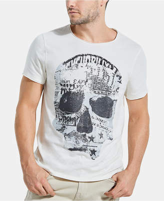 GUESS Men's Punk Skull T-Shirt