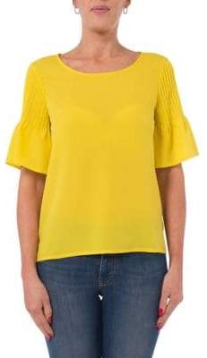 French Connection Crepe Short Sleeve Blouse