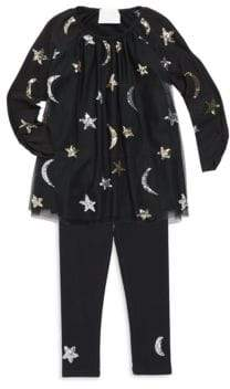 Kate Mack Little Girl's Celestial Sequined Tunic Set