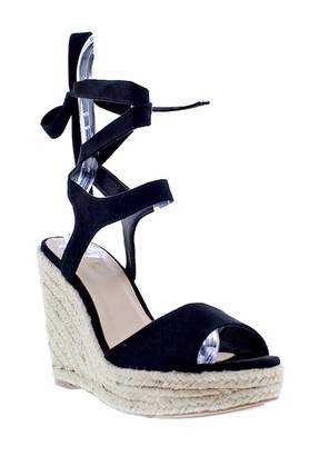 Liliana Elfonso Wrap-Around Ankle Wedge Platform Sandal