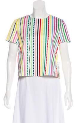 Mira Mikati Striped Short Sleeve Top