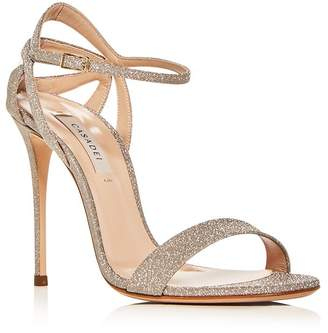 Casadei Women's Glitter Ankle-Strap High-Heel Sandals