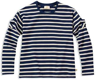 Kate Spade Girls' Striped Cold-Shoulder Tee with Bows - Big Kid