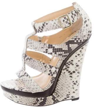 Rachel Zoe Embossed Leather Platform Wedges
