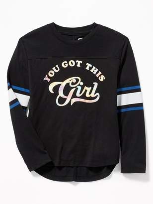 Old Navy Graphic Football Tee for Girls