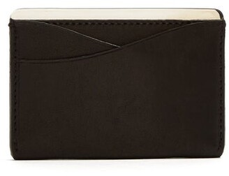 Lee Passavant And Sterling Silver And Leather Cardholder - Mens - Black Silver