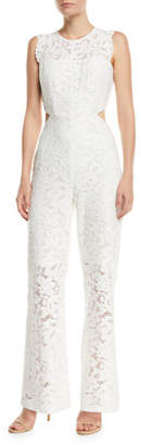 Aijek Galella Sleeveless Lace Jumpsuit