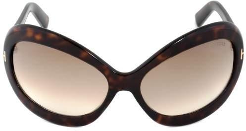 Tom Ford Edie Sunglasses FT0428 52F | Dark Havana Frame | Brown Gradient Lens