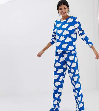 debe97c14b Asos Tall DESIGN Tall mix   match cloud pyjama traditional jersey pant