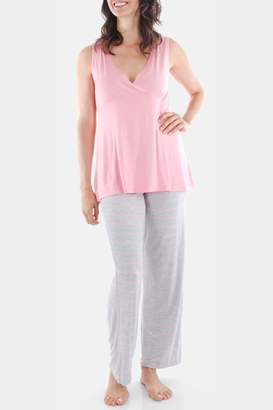 Everly Grey Maternity Roxanne 4-Piece PJ Set (Maternity)