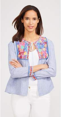 J.Mclaughlin Rhodes Embroidered Linen Jacket