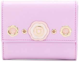 Salvatore Ferragamo Gancio flower wallet