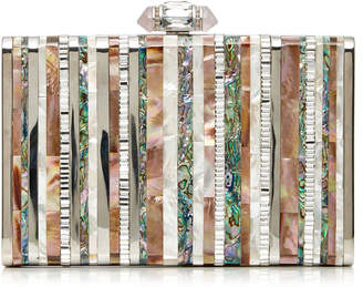 Judith Leiber Couture Tall Slender Rectangle Shell Stripes Clutch