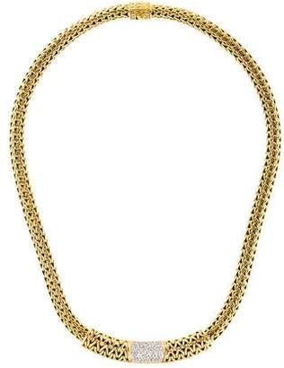 John Hardy 18K Diamond Classic Chain Slider Necklace
