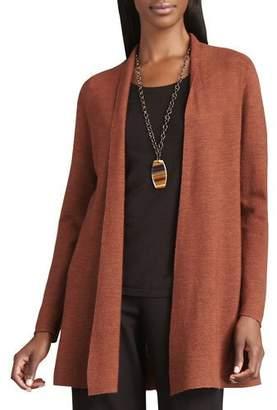 Eileen Fisher Long Wool Cardigan, Petite