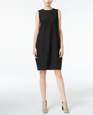 Eileen Fisher Washable Crepe Lantern Dress, Regular & Petite $238 thestylecure.com
