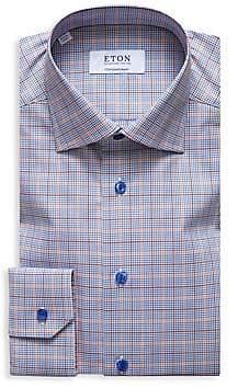 Eton Men's Contemporary-Fit Plaid Button-Down