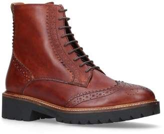 Carvela Snail Brogue Ankle Boots