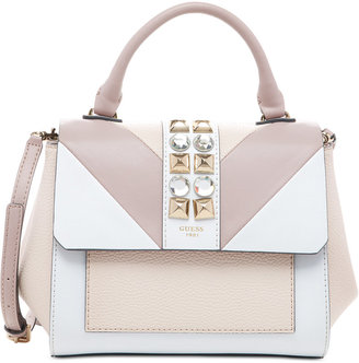 GUESS Evette Top Handle Flap Satchel $98 thestylecure.com